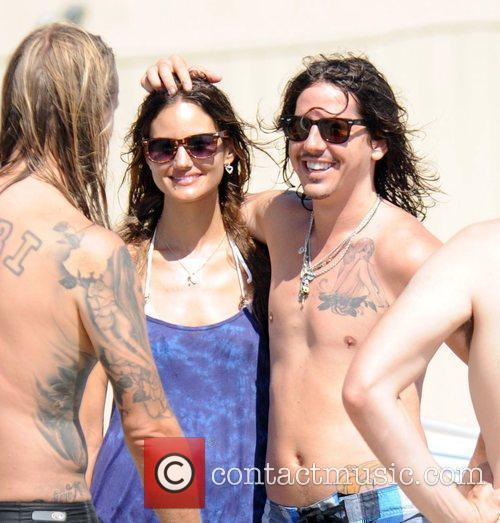 Cisco Adler On Malibu Beach With Friends 3