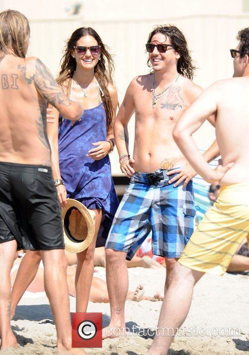 Cisco Adler On Malibu Beach With Friends 4