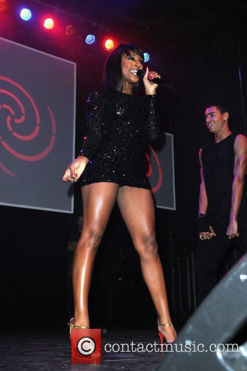 Alexandra Burke  performs at the switching on...
