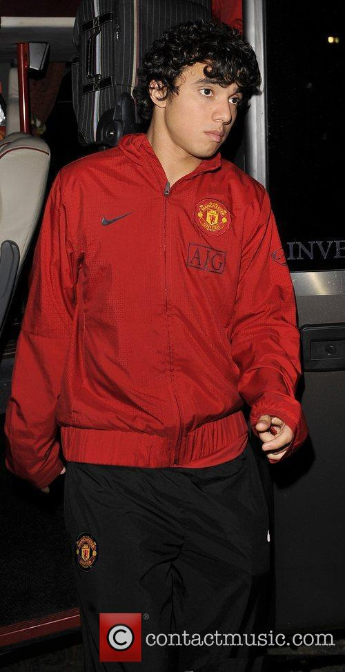 Arriving on the Manchester Utd team bus ahead...