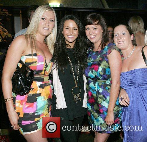 Michelle Keegan and fans The grand opening of...