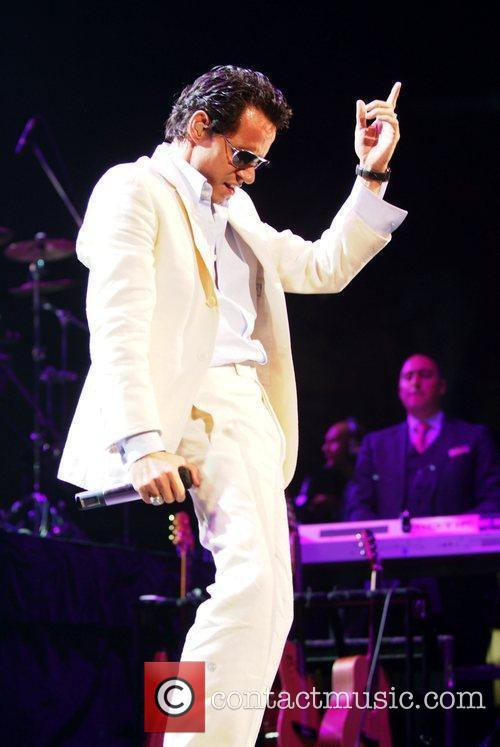 Marc Anthony performs in concert at the American...