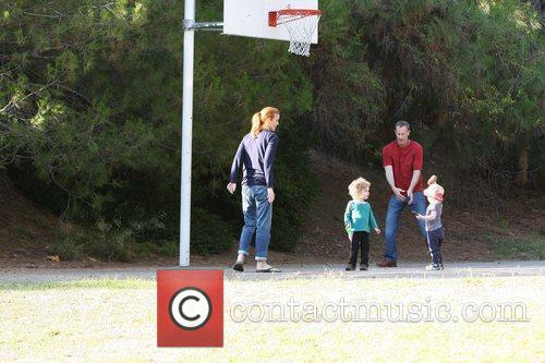 Marcia Cross, Tom Mahoney Play Basketball With Their Twin Daughters Eden and Savannah 4