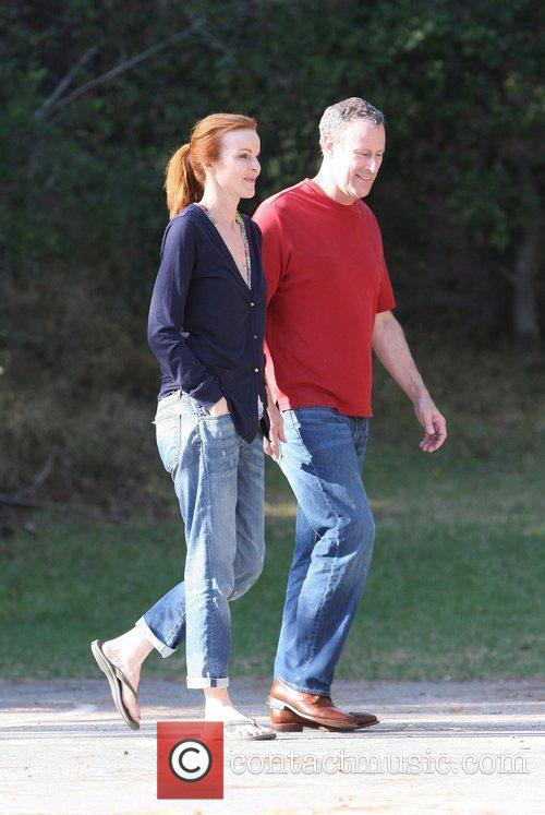 Marcia Cross, Tom Mahoney Take Their Twin Daughters Eden and Savannah To The Park 8