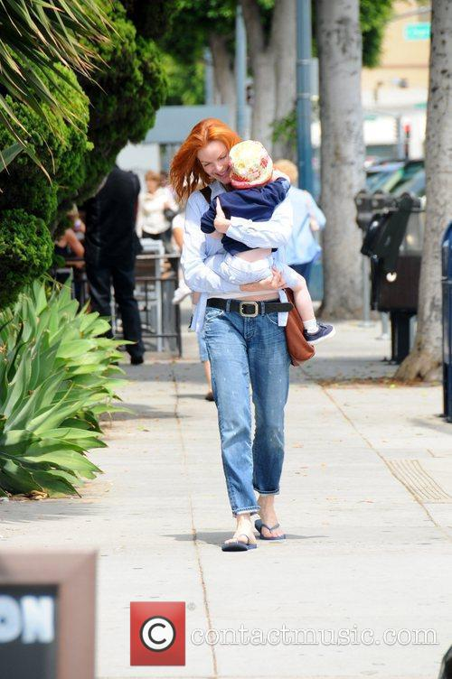 Marcia Cross takes her children to the Color...