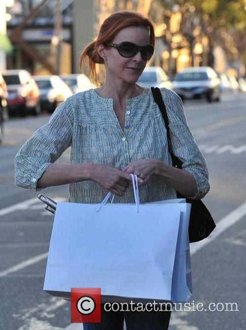 Marcia Cross and her mother out shopping in...
