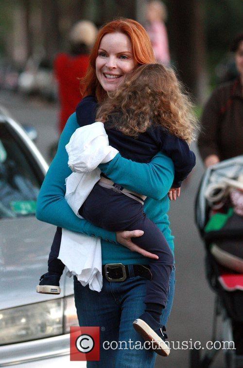 Marcia Cross and her daughter Savannah Marcia Cross...