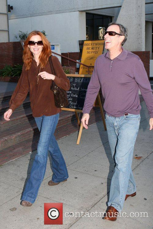 Marcia Cross and husband Tom Mahoney leave the...