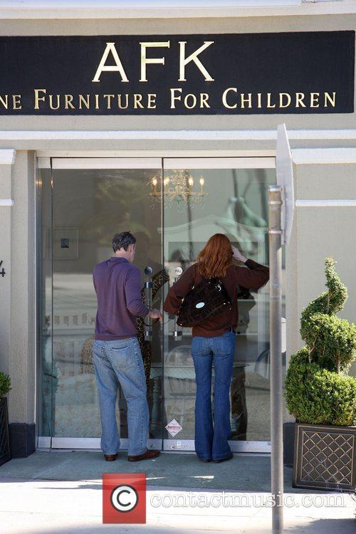 Marcia Cross and husband Tom Mahoney visit the...