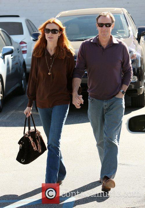 Marcia Cross and husband Tom Mahoney visist Fourteen...