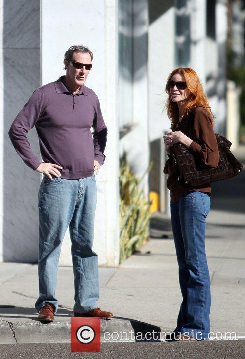 Marcia Cross and husband Tom Mahoney make a...