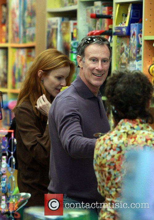 Marcia Cross and husband Tom Mahoney visit Jenny...