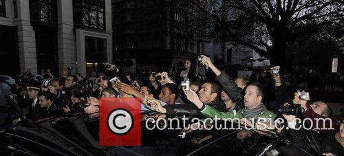 Mariah Carey leaving her hotel