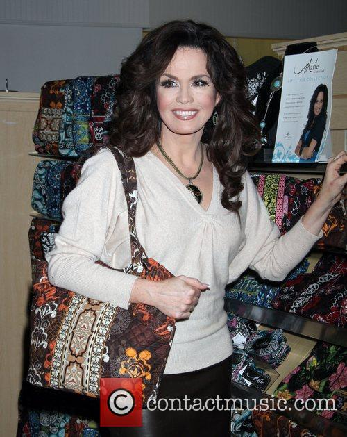 Celebrates her Marie Lifestyle Collection at the Hallmark...