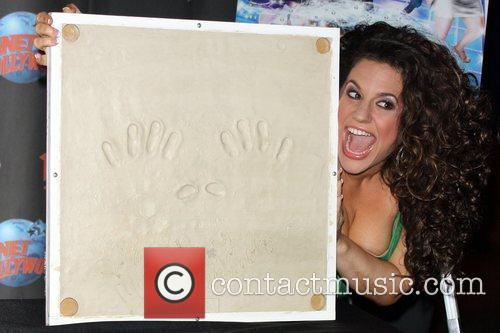 Hand print ceremony at Planet Hollywood, Times Square.