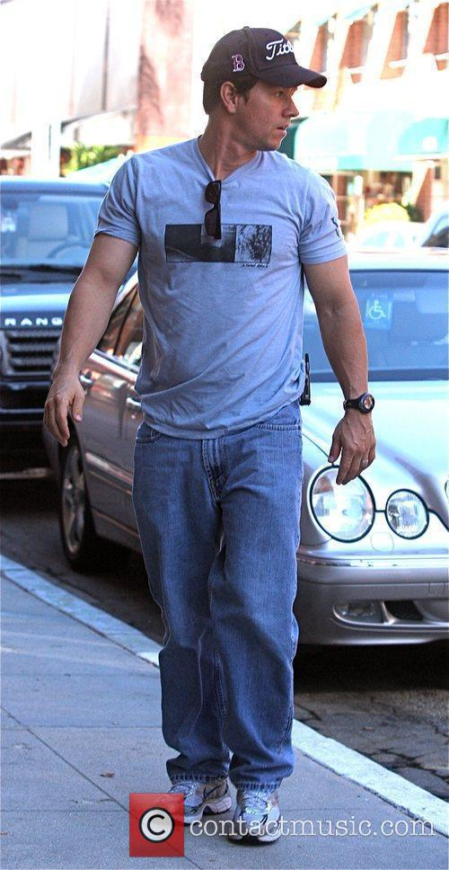 Mark Wahlberg outside a medical building in Beverly...