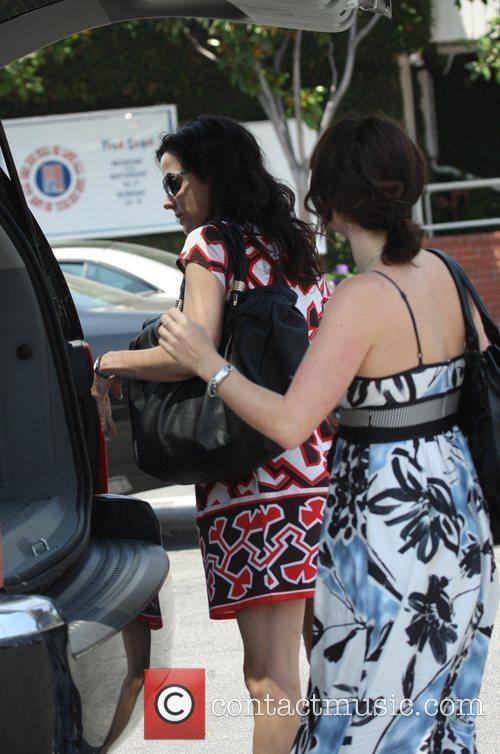 Mary Louise Parker  after shopping at Fred...
