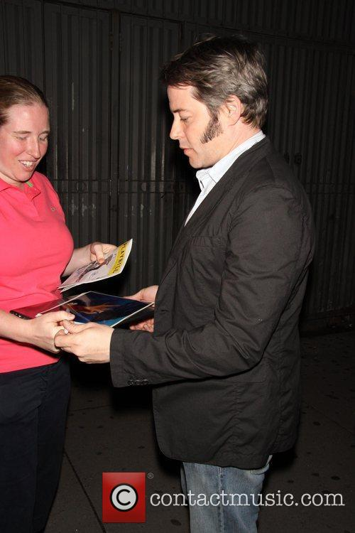 Matthew Broderick  signs autographs for fans, after...