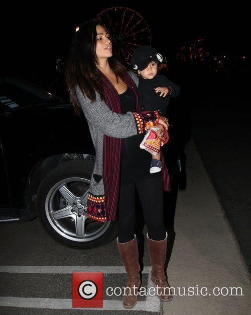 Camila Alves visits Malibu Carnivals with her son...
