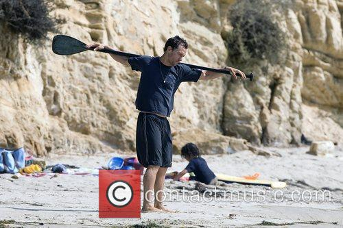 Matthew McConaughey soaks up the Southern California sun...