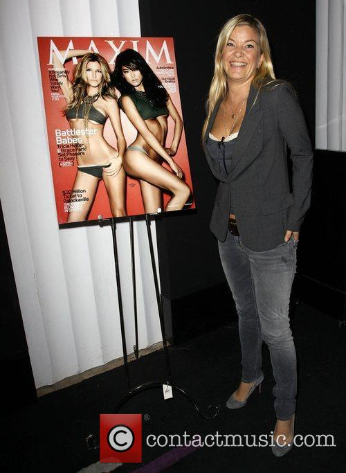 Maxim November 2009 Cover Celebration with Tricia Helfer...
