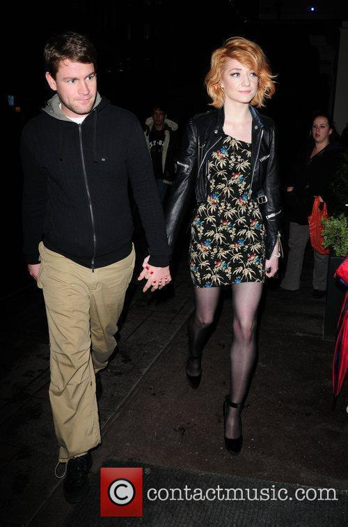 Nicola Roberts outside the May Fair hotel with...