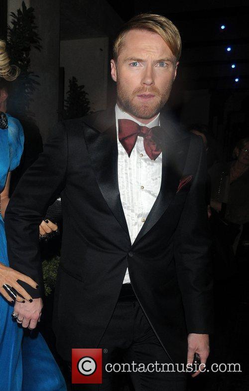 Ronan Keating leaves the May Fair hotel smartly...