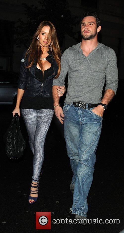 Una Healy and boyfriend Ben Foden arrive at...