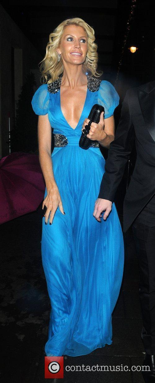Yvonne Keating leaves the May Fair hotel smartly...
