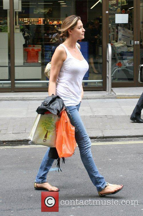 Lisa Snowdon out and about in Mayfair London,...
