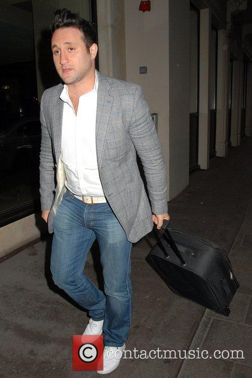 Anthony Costa outside the Mayfair Hotel