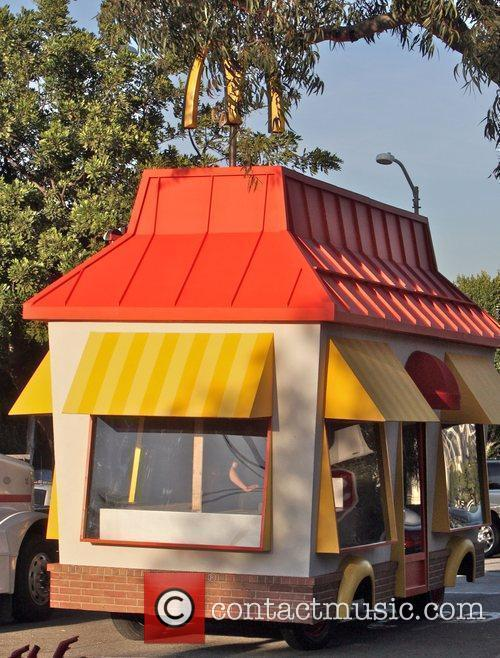 McDonald's films a restaurant on wheels for a...