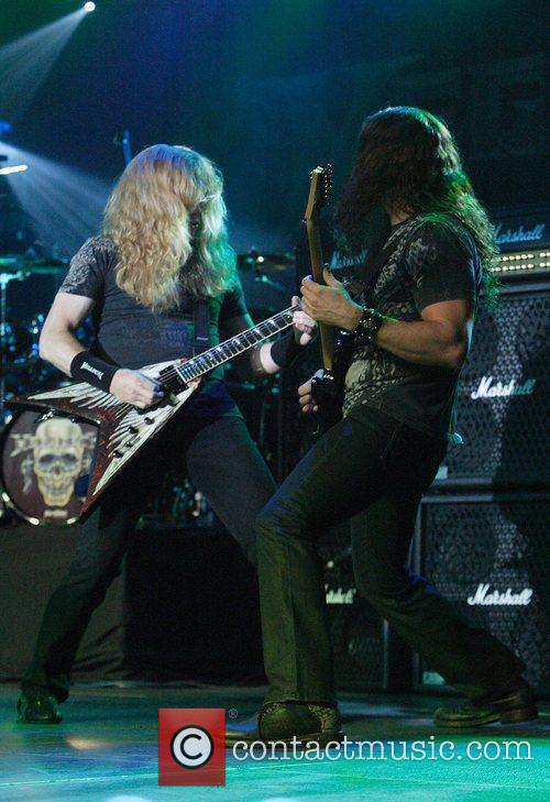 Dave Mustaine and Chris Broderick Megadeth performing live...