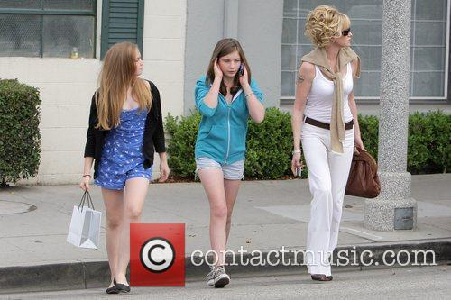 Melanie Griffith, Her Two Daughters, Dakota Johnson, Stella Banderas and Leaving Neil George Salon In Beverly Hills 7
