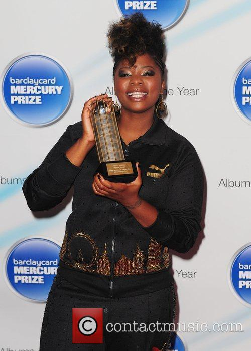 Speech Debelle poses with her nomination award at...