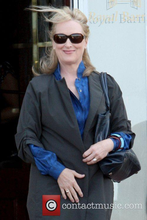 Meryl Streep leaving her hotel to attend the...