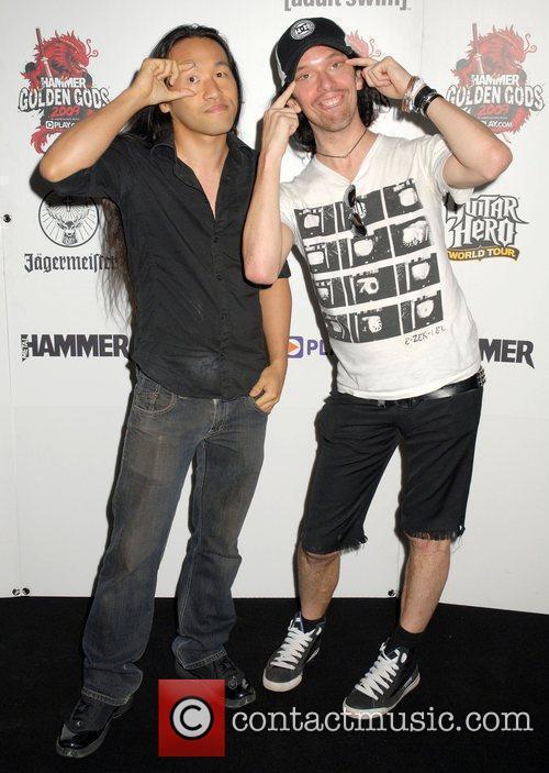 Herman Li and Sam Totman of Dragonforce Metal...