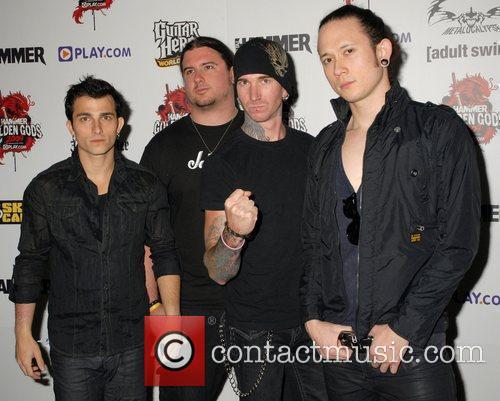 Matt Heafy (r) with his band Trivium Metal...