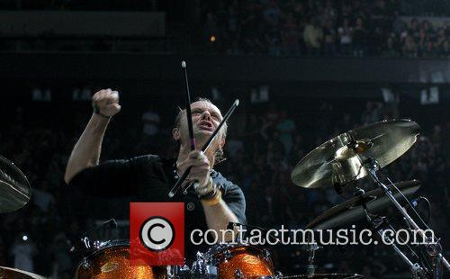 Lars Ulrich Metallica performing at the Bank Atlantic...
