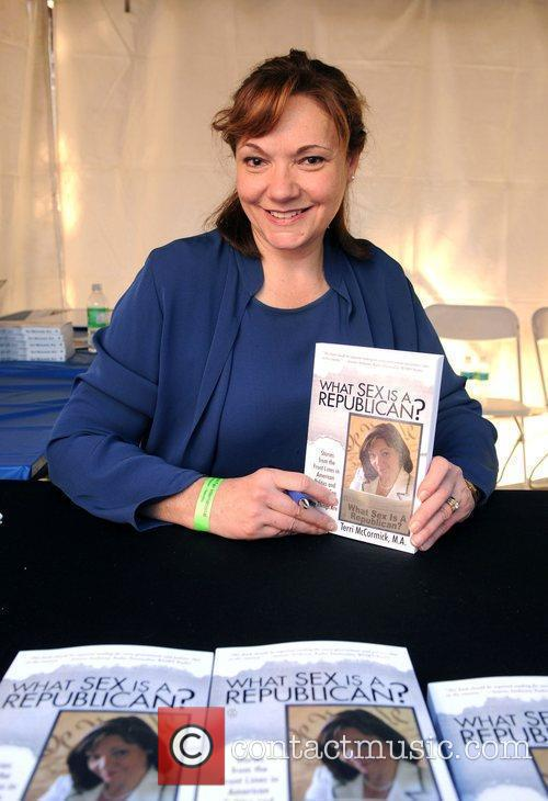 Author Terri McCormick  signing her book 'What...