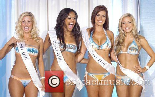 Cover Model Miami Dolphins Cheerleaders Unveil 2010 Swimsuit...
