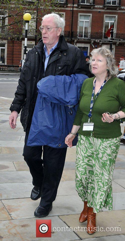 Michael Caine leaving the BBC Radio 2 studios...