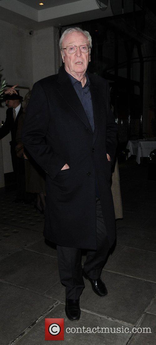 Michael Caine leaving Scott's restaurant London, England