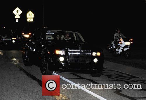 LaToya Jackson arrives at the Michael Jackson funeral...