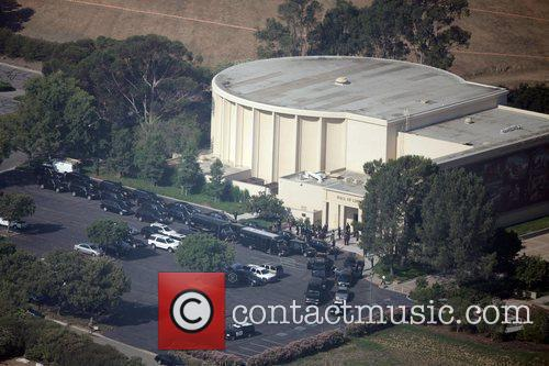 Aerial view of the funeral of the King...