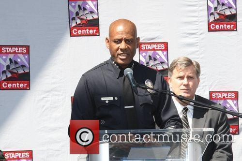 LAPD Deputy Chief Earl Paysinger Press conference at...
