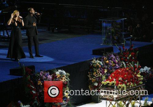 Mariah Carey  The memorial service for the...