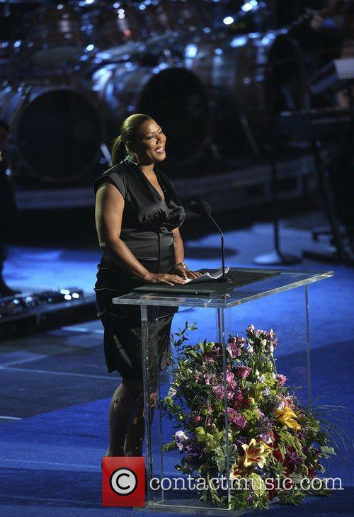 Queen Latifah  The memorial service for the...