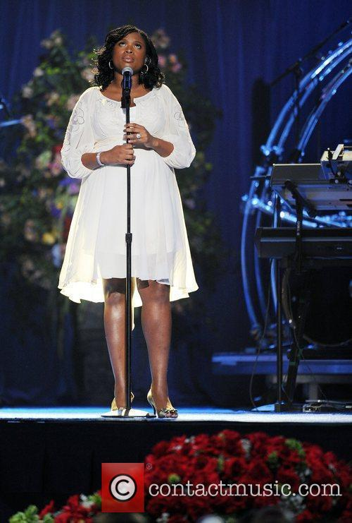 Jennifer Hudson  The memorial service for the...
