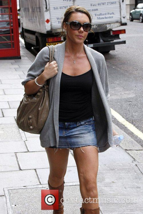 Michelle Heaton seen walking through Mayfair in central...
